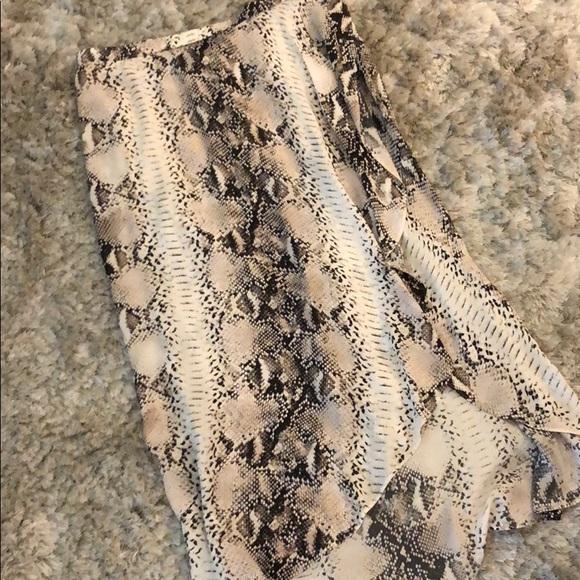 b6e2c0fe14 Haute Hippie Dresses & Skirts - Haute Hippie snake print maxi skirt with high  slit